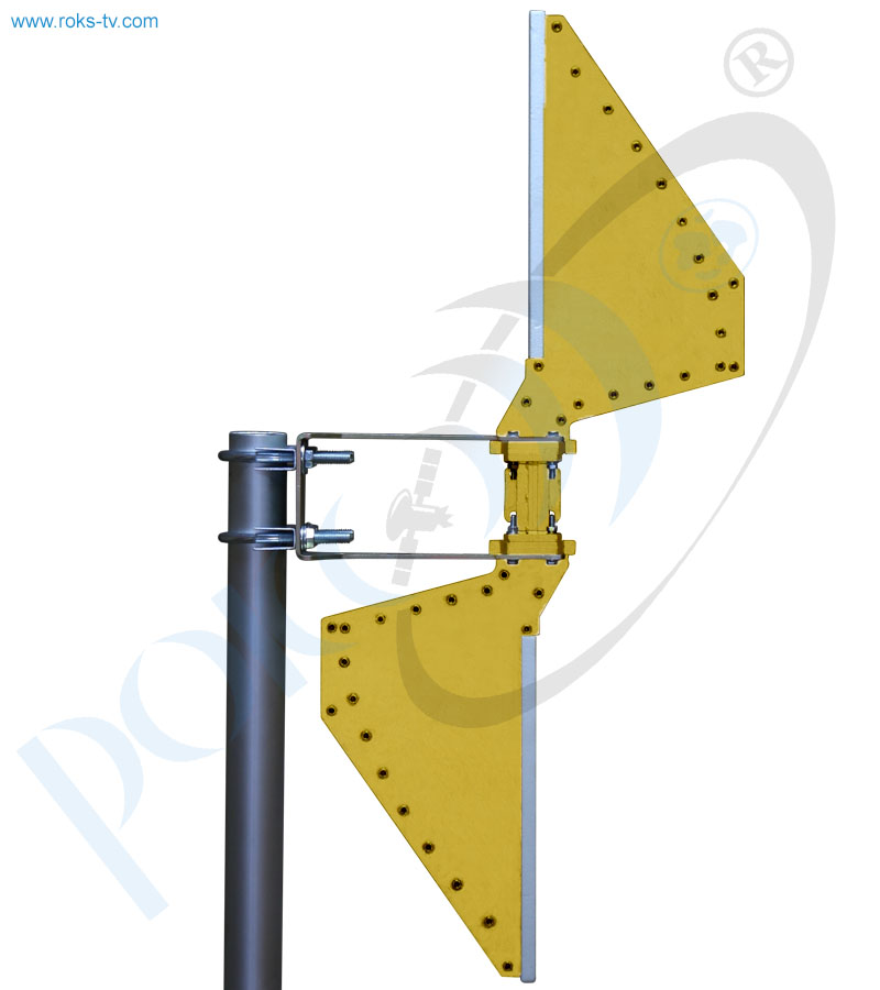 Sector antenna assembly ku band side