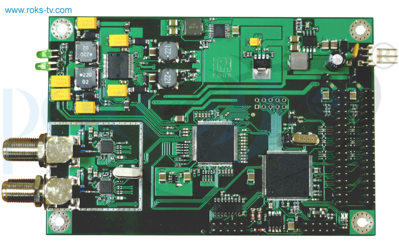 Receiver board dvb s s2 fta top