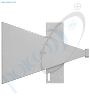 Thumb short sector antenna ku band h pol 180 deg