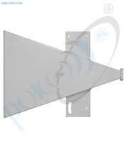 Thumb short sector antenna ku band v pol 90 deg