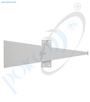 Thumb long sector antenna ku band h pol 120 deg